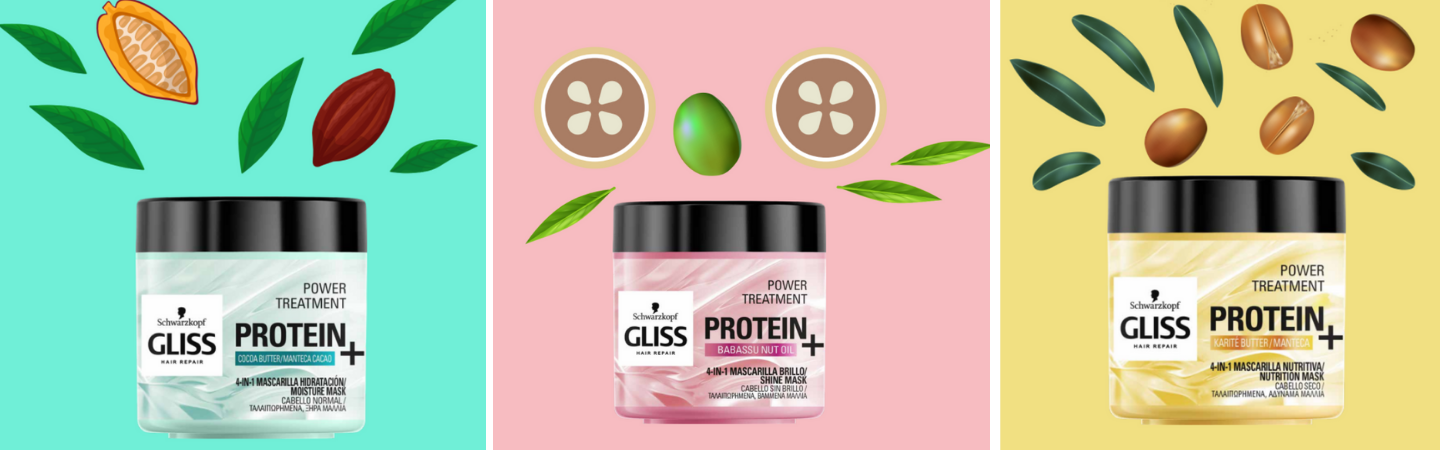 gliss 4 in 1 hair mask- design